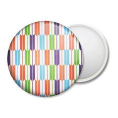 "Badge miroir ""Origami"" arlequin japonais."