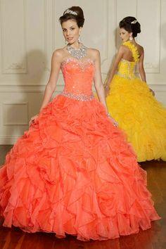 melon colored quinceanera dresses - Google Search