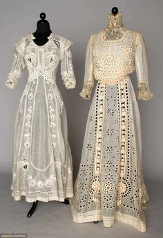 Two Summer Tea Gowns, 1905-1910, Augusta Auctions, April 17, 2013 - NYC, Lot 323