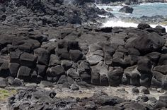 Rapa Nui / Easter Island / Isla de Pascua. Weathered lava flow on the coast northwest of Hanga Roa. Photo: Mike Seager Thomas, UCL Rapa Nui Landscapes of Construction Project. You are welcome to use/ circulate the photo but please credit it to the project