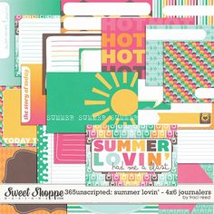 365unscripted: Summer Lovin' 4x6 Journalers by Traci Reed