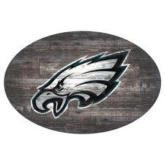 NFL Philadelphia Eagles 46 Distressed Wood Oval Sign