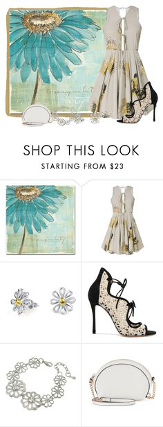 """Big Picture Daisy"" by freida-adams ❤ liked on Polyvore featuring Trademark Fine Art, Bling Jewelry, Tabitha Simmons, LC Lauren Conrad, topsets, Daisy, polyvorecommunity, topset and polyvorefashion"
