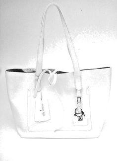 Offerta Borsa PATRIZIA PEPE Maxi Shopping Vera Pelle lavorata colore Bianco  - handbags borsa PATRIZIA PEPE bab20de834f