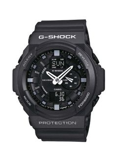 Casio Gents G-Shock Black Rubber Strap Watch Casio. $105.00. Auto LED Light. Chronograph. Shock Resistant. Stopwatch. 5 Daily Alarms