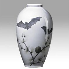 View Vase with bats and pine boughs by Royal Copenhagen Co. Browse upcoming and past auction lots by Royal Copenhagen Co. Royal Copenhagen, Gothic House, Victorian Gothic, Gothic Mansion, Terra Cotta, Goth Home, Gothic Home Decor, Vintage Stil, Porcelain Vase