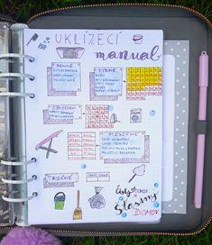 Organizace úklidu aneb jak na uklízecí manuál - Fleppi blog Diary Planner, Flat Ideas, Konmari, My Room, Home Organization, Clean House, Cleaning Hacks, Knitting Patterns, Diy And Crafts
