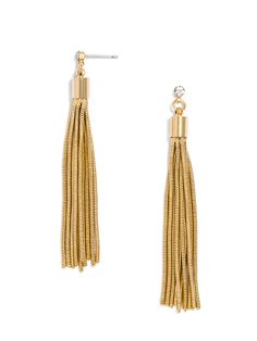 Snake Chain Tassel Drops by: BaubleBar - diy jewelry inspo (I've already made chain tassels like these before!)