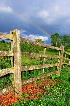 Farm Rainbow Photograph