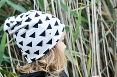P+Otter triangles reversible slouch beanie