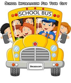 School Kids cartoon Riding a School Bus School Bus Clipart, Cartoon School Bus, Cartoon Kids, I School, Sunday School, Back To School, Clip Art, Kids Ride On, School Decorations