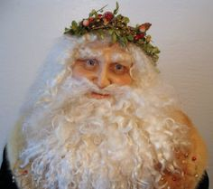 life size santa hand sculpted from polymer