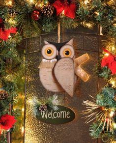 Hanging Welcome Owl #kirklands #seasonaldecor