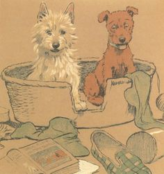 Cecil Aldin MAC Photo Prints - Number 25 of 25 Cecil Aldin Vintage Puppy Dogs