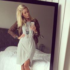 white dress & Caroline receveur