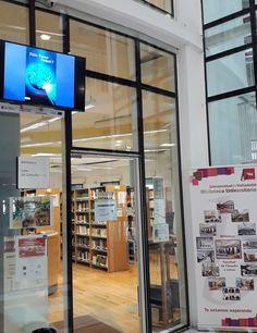 ¡¡¡Pantalla informativa!!! Desde febrero de este año, la Biblioteca cuenta con un nuevo medio para informaros de las noticias que va generando. Una pantalla de televisión con la que os mantendremos al día de las novedades bibliográficas, exposiciones, redes sociales, noticias y mucho más.