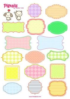 printable tags | free printable tags (could be labels too). Would be great to label kid ...