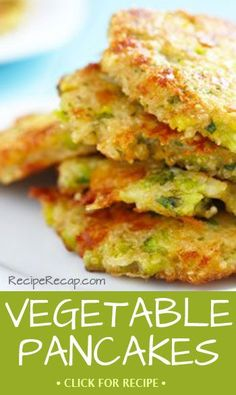 Looking for a great breakfast inspired dish, you can eat for lunch or dinner? These vegetable pancakes are a creative way to get your kids to eat their veggies!