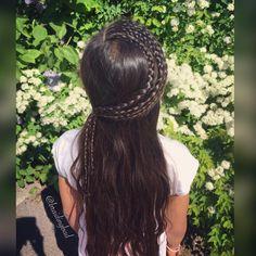Lacebraids 🌿🌸🌿 . . #lacebraid #puolihollantilainenletti #braidinghair #braidideas #instabraids #lettikampaus #trenzas #peinados…