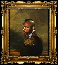 Mr. T by Steve Payne, creator of the Replaceface series, where Steve took digital copies of George Dawe's paintings of Russian generals and added celebrities faces to the portrait using Photoshop.