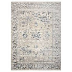 Ivory and Blue Malta 5 Rug