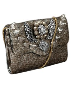 Holiday Evening Bags - Gold Statement Clutches for the Holidays - Elle