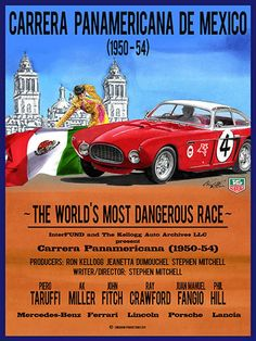 Panamerica Carrera is a Historical Documentary by Stephen Mitchell. Featuring historic footage and interviews with drivers and historians of the incredible race, which ran from a 1950 to 1954. This race was widely held by contemporaries to be the most dangerous race of any type in the world. Check out the trailer at http://goo.gl/dBy9LD Panamerica Carrera will be screened on August 14, 2014 at 9:30pm at Golden State Theatre
