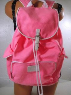 Victoria's Secret PINK Backpack White Trim Neon Canvas School Handbag Backpack Book Bag Tote-Sold Out:Amazon:Health & Personal Care