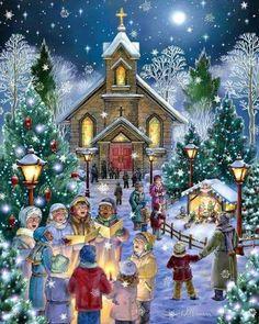 christmas christmas illustration illustration noel christmas scenes christmas pictures christmas art