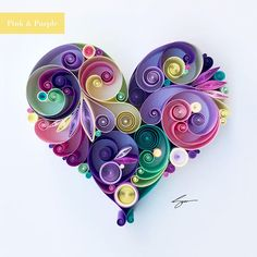 Love is All Around Quilling Art - Unique gift for mothers day Paper anniversary Wedding gift April birthday gift by SenaRuna
