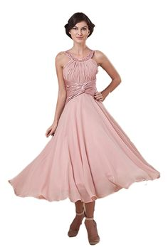 Albizia Women's Jewel Beaded Neckline Tea Length Mother of the Bride Dresses * Discover this special product, click the image : Mother of the Bride