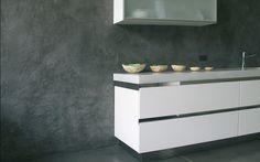 propuesta de revestimiento de paramentos verticales de cocina con microcemento,