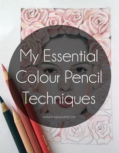 Today I'll be sharing a quick guide to MY essential colour pencil  techniques which I hope will answer some of your questions and help  beginners, or anyone really, expand their repertoire of drawing skills.  Obviously this isn't an exhaustive list of every technique on tha-planet,  because that would be a ridiculously long blog post (which even I wouldn't  be tempted to write), and the wonderful thing about art is that these  techniques are meant to be ignored, broken and adapted, so if…