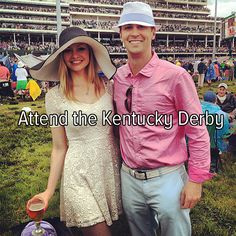 This is messed up I've lived in Kentucky my entire life and not once did I ever go to the derby but I watch it every year tho
