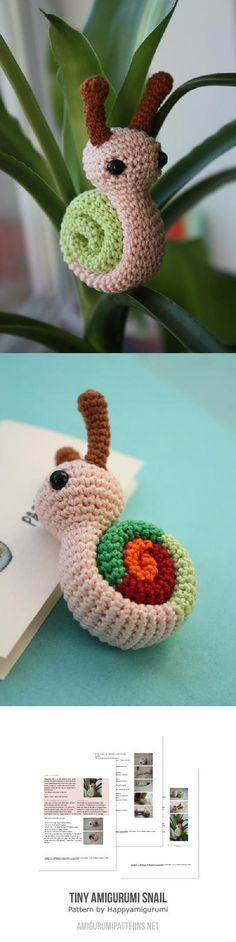 Tiny Amigurumi Snail Found at Amigurumipatterns.net