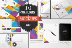 Beautiful Stationery Mockups Vol. 2 by ZippyPixels on @creativemarket