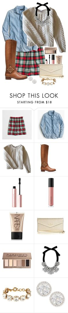 """""""Happy 2018!!!"""" by prepstepkate ❤ liked on Polyvore featuring J.Crew, Anine Bing, Tory Burch, Too Faced Cosmetics, Bare Escentuals, NARS Cosmetics, Kate Spade, Urban Decay, BaubleBar and Frederic Sage"""