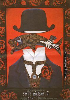 『美しい鹿の死』(1987年、カレル・カヒニャ監督)日本未公開 1987年 82×57 ポスター:カレル・タイスィク