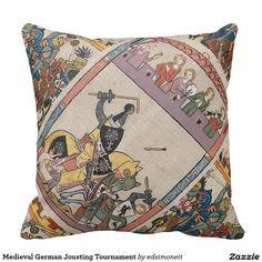Medieval German Jousting Tournament Pillow