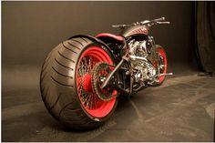 Red Rim Bobber Motorcycle