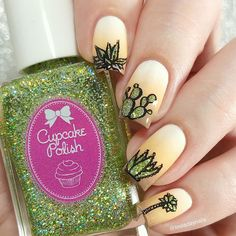 Glitter Nails, Simple Designs, Cactus, Polish, Color, Instagram, Simple Drawings, Vitreous Enamel, Colour