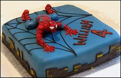 easy spiderman cakes design Spiderman Cake Ideas