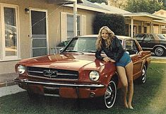 Me in 1984 proudly posing with my 1965 Mustang coupe. It's 30 years later and I still have the car! Mustang 66, Mustang Girl, Mustang Fastback, Mustang Boss, Shelby Gt500, Classic Mustang, Ford Classic Cars, Best Muscle Cars, American Muscle Cars