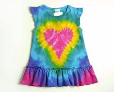 Infant Tie Dye Dress / Ruffle Sleeve Dress or by SunflowerTieDyes, $18.00