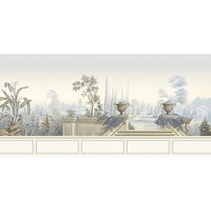 First scene from the Garden of Paradise wallpaper mural