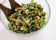 Roasted Broccoli, Arugula and Lentil Salad - cookieandkate.com