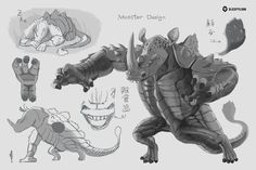 Monster Design, Armadillo, Drawings, Sick, Artwork, Red, Character, Work Of Art, Auguste Rodin Artwork