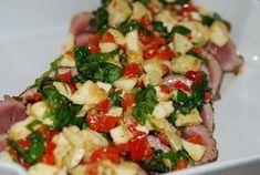it1 Lchf, Mozzarella, Pasta Salad, Low Carb Recipes, Potato Salad, Food And Drink, Ethnic Recipes, Cats, Sink Tops