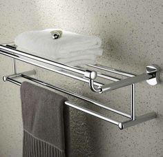 porte serviette de salle de bain, barres en fer chromé