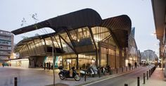 Barceloneta Market   MiAS Arquitectes   Clearly inspired in spirit and form by Santa Caterina but yet so authentic.